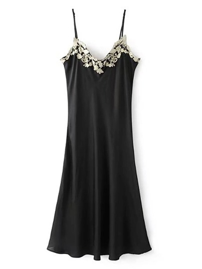 Contrast Lace Embroidered Cami Dress