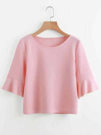 Tee-shirt avec des plis