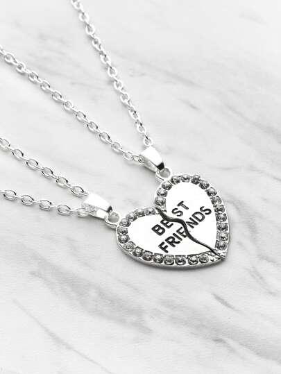 Модные ожерелья в форме сердца 2 шт.