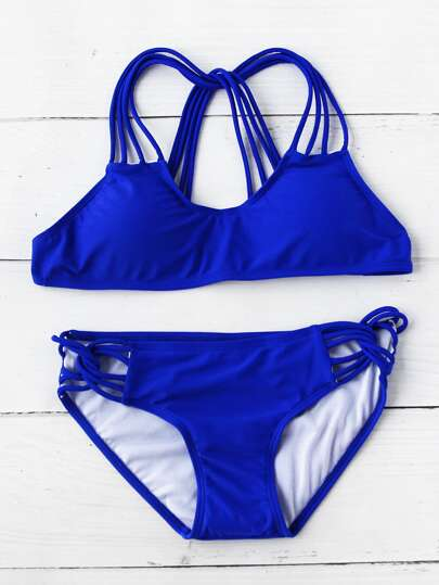 Strappy Push Up Bikini Set