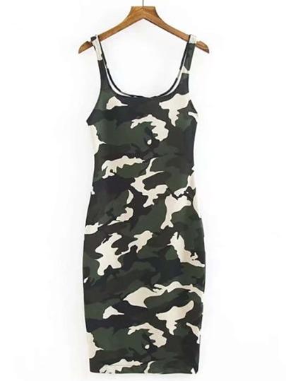 Camouflage Print Tank Dress