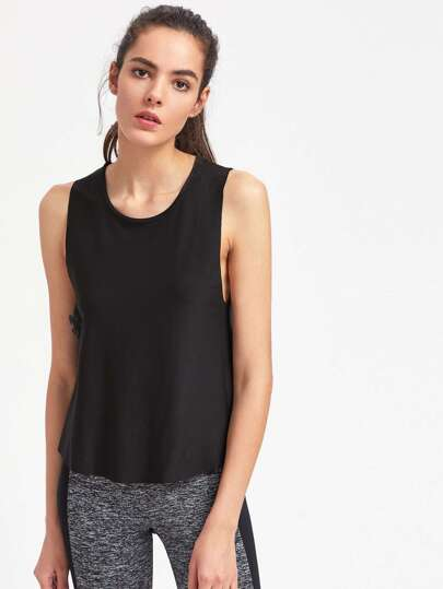 Active Dropped Armhole Tank Top