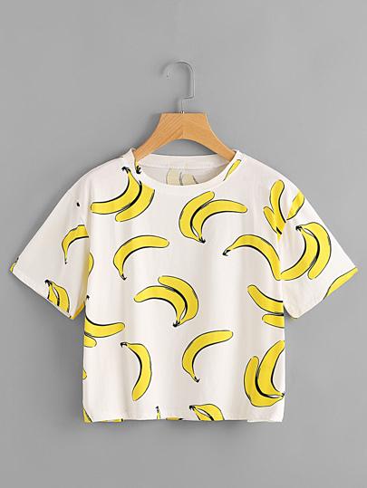 Tee-shirt imprimé des bananes