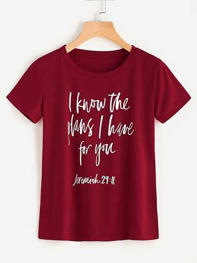 Slogan Print Tshirt