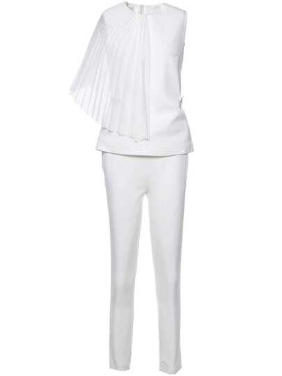 One Shoulder Pleated Top With Pants
