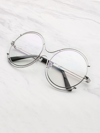 Double Frame Round Lens Glasses