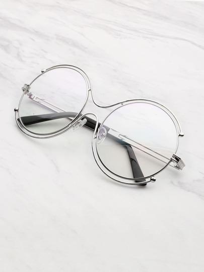 Occhiali lenti rotonde a doppio telaio