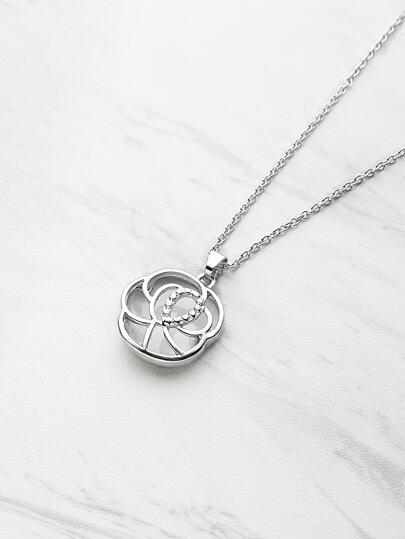 Модное ожерелье с подвеской в форме розы