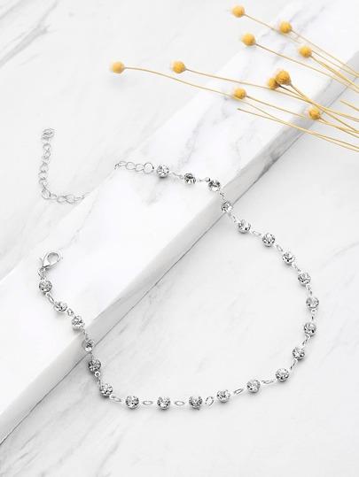 Rhinestone Delicate Chain Choker