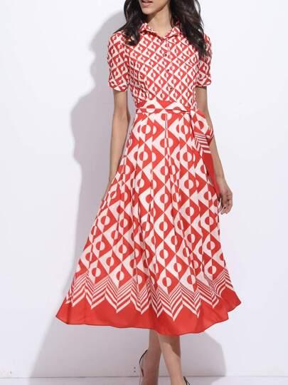 Color Block Polka Dot Dress