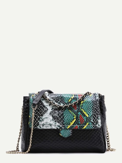PU Crocodile Chain Bag
