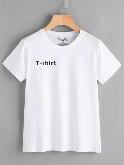 Camiseta simple con letras