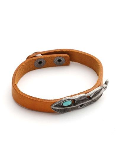 Metal Leaf Wrap Bracelet