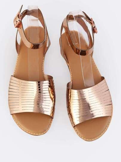 Laser Cut Open Toe Sandals