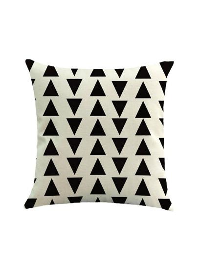 Two Tone Triangle Print Pillowcase Cover
