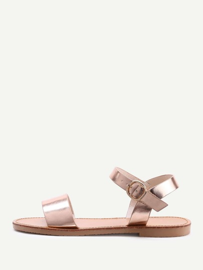 Metallic Open Toe Sandals