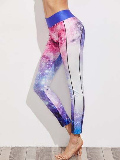 Active Galaxy Print Leggings