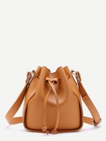 Drawstring PU Bucket Bag