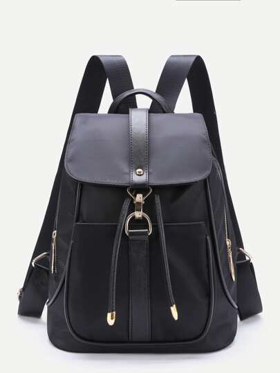Side Zipper Flap Backpack