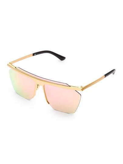 Contrast Top Bar Visor Sunglasses