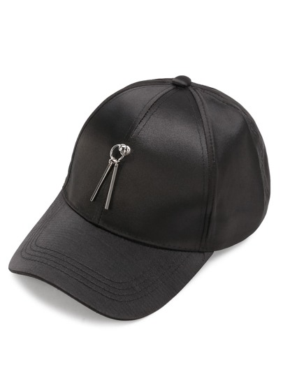 Double Bar Embellished Baseball Cap