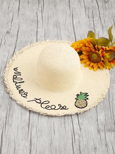 Sombrero de paja con detalle de lentejuelas