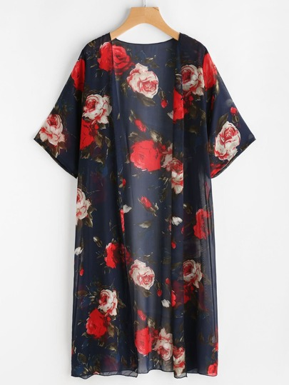 Floral Print Chiffon Top