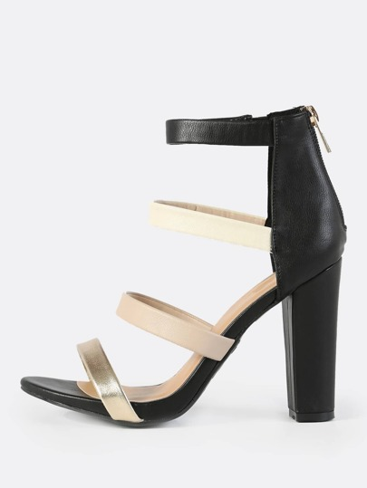Multi Band Heels BLACK