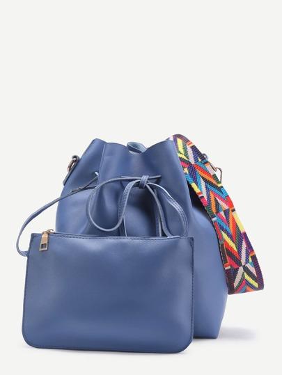 Sac seau bicolore avec cordon avec sac bandoulière