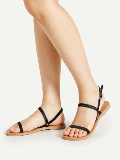Simple Strappy Sandalias planas