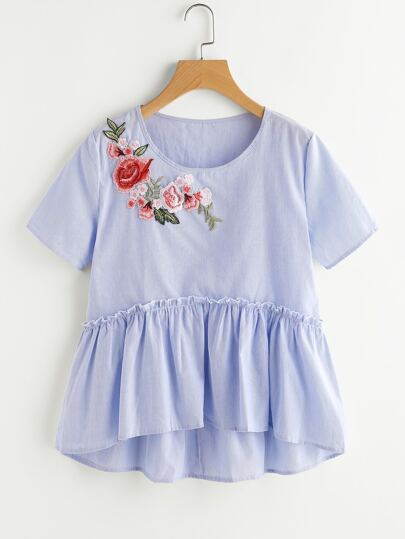 Applique Smock Top