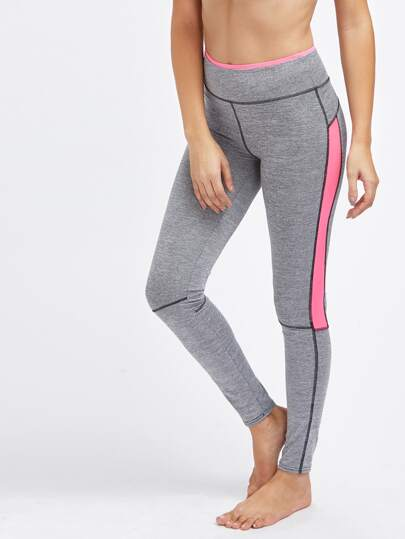 Active Contrast Panel Space Dye Leggings