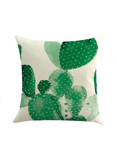 Two Tone Cactus Print Pillowcase Cover