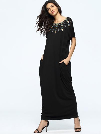 Модное платье с принтом