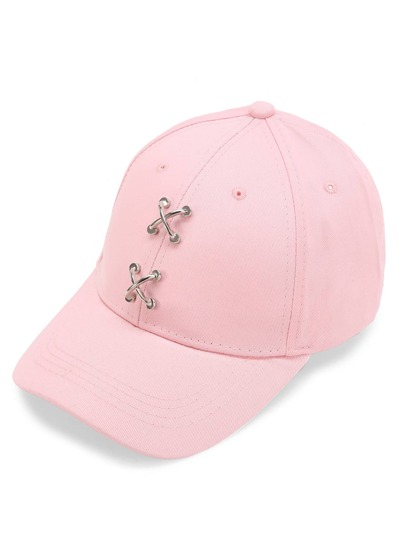 Criss Cross Metal Detail Baseball Cap