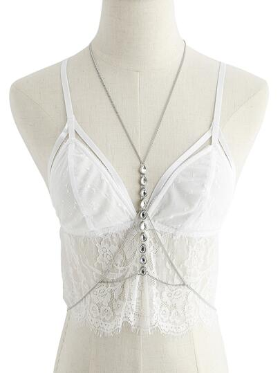 Rhinestone Detail Body Harness