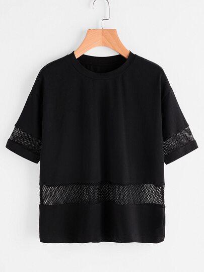Kurzarm-Shirt Gitter