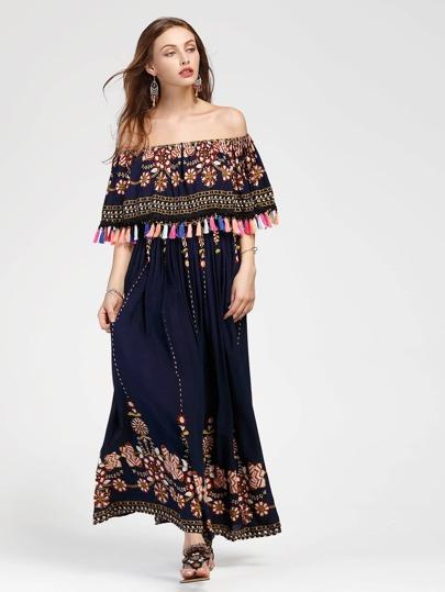 Vestito con stampa di aztec