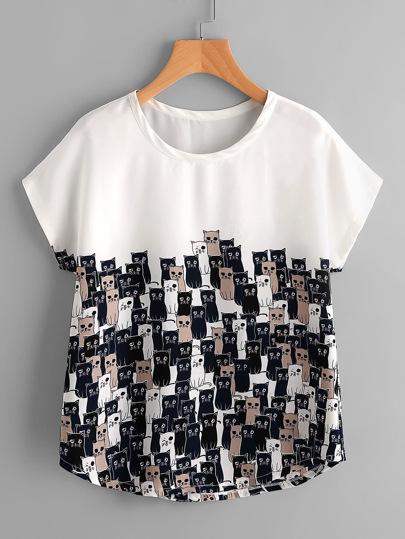 Tee-shirt imprimé des chats