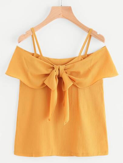 Cold Shoulder Frill Trim Top