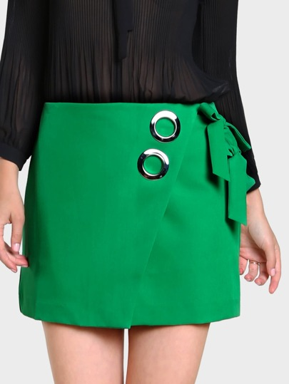 O Ring Wrap Skirt GREEN