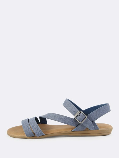Double Band Denim Look Sandals DENIM