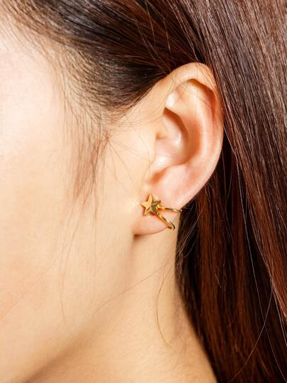 Metal Star Ear Cuff 1pc