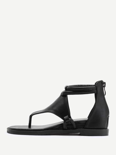 Sandales avec le zip
