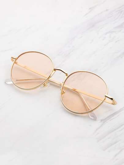 Tinted Flat Lens Sunglasses