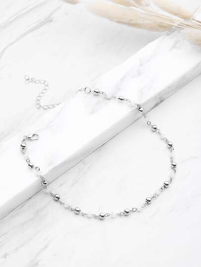 Metal Beaded Design Choker