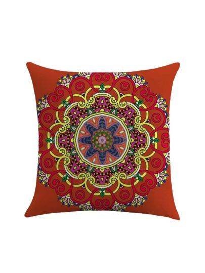 Flower Print Pillowcase Cover