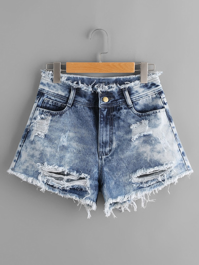 Shorts desgastados en denim