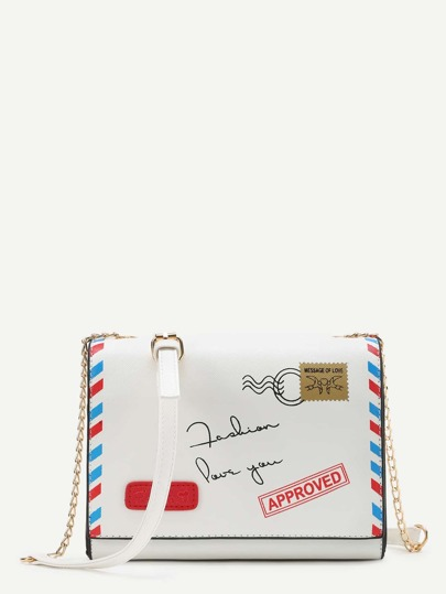 Envelope Shaped Crossbody Bag