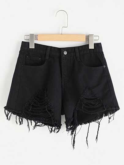 Denim Shorts mit Rissen